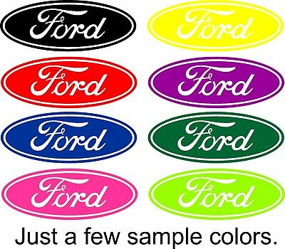 - Ford Decal Script Oval Vinyl Decal Sticker Car Truck Window