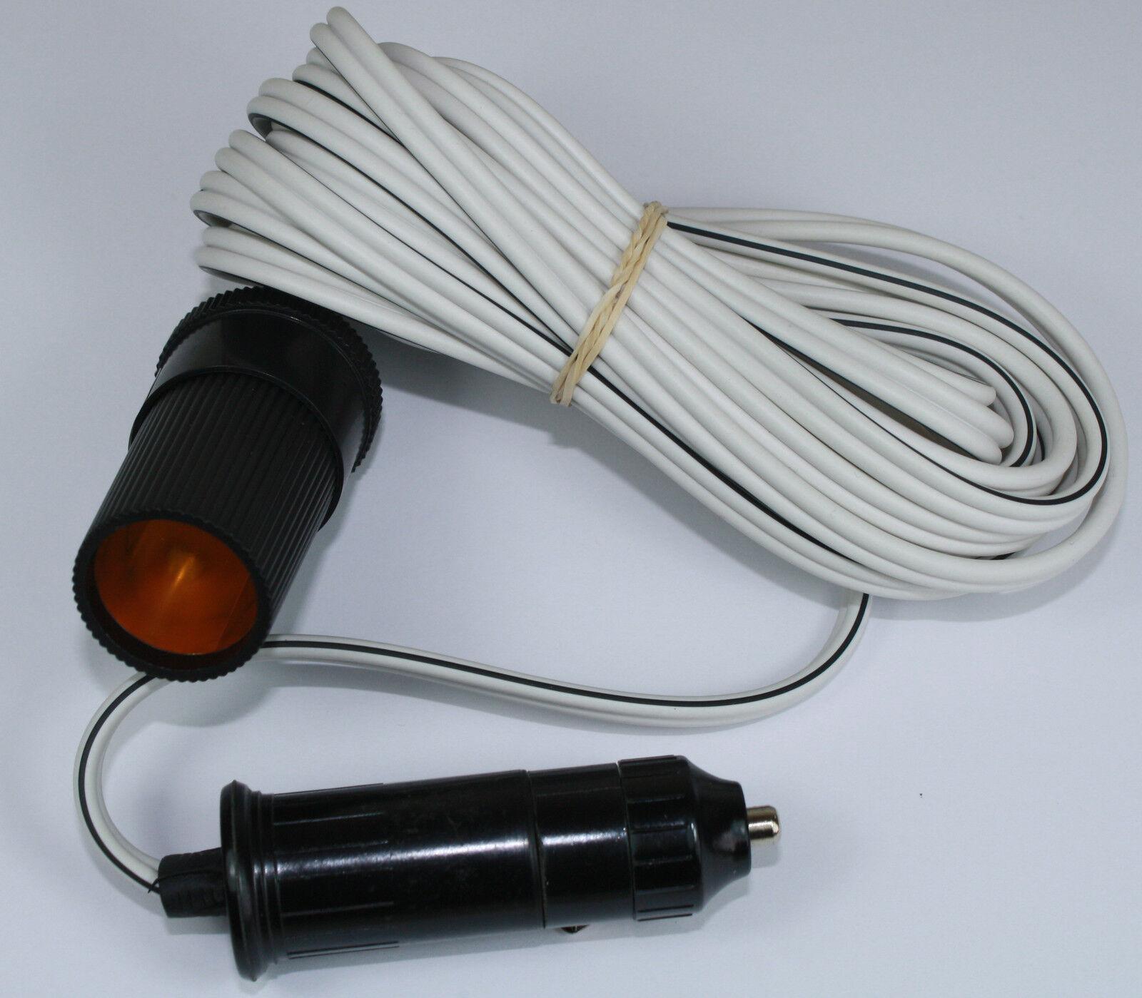 12v 12 volt 5 metre Cigar Cigarette Lighter Socket Adaptor Extension ...