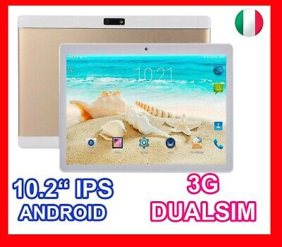 """TABLET PC 10.2"""" POLLICI ANDROID DUAL SIM 3G WIFI QUADCORE 5 MPX CAMERA SMART HD"""