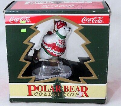 Polar Bear Ornament (Coca Cola Polar Bear Collection Christmas Ornament 1995 Ice)