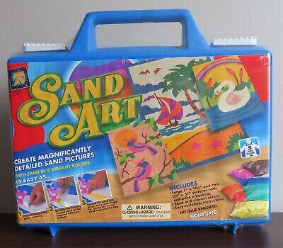 Sand Art Kit (AMAV Sand Art Kit In Carrying Case Makes 3 Pictures Ocean Swan Birds)