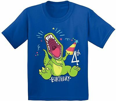 Funny Dinosaur Birthday Shirt for Kids 4th Birthday Party Shirt B-Day Outfit](Outfit For Party)