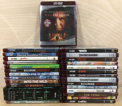 Lot of 29 Various HD-DVDs - Matrix Trilogy, 12 Monkeys, Bourne Trilogy, & More!