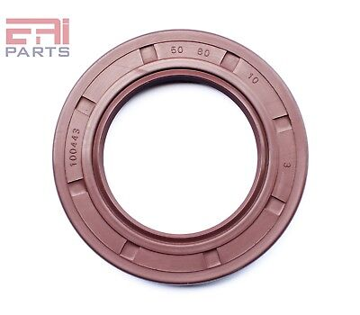 uxcell Double Lip Rotary TC Shaft Oil Seal 50x80x10mm