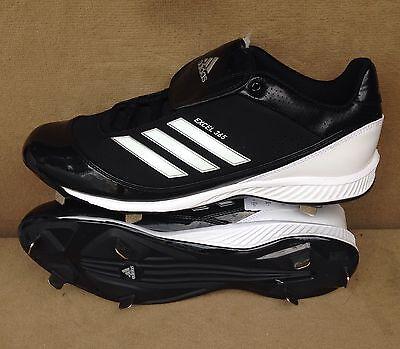 d0bb7ac9764c64 NEW Adidas Excel 365 Metal Low Baseball Cleats G47408 Shoes Black Men s Sz  14