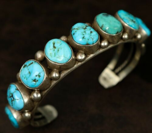 Important! NAVAJO ARTS and CRAFTS GUILD Sterling Silver TURQUOISE Bracelet