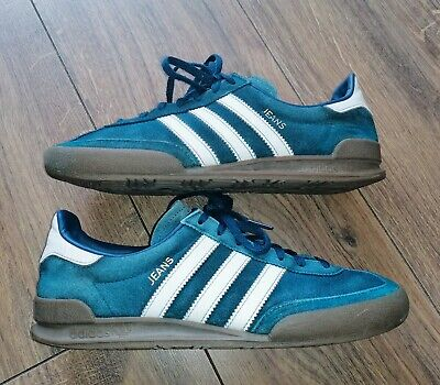 Men's Adidas Jeans Trainers in Petrol Blue Trim in Size 7 UK