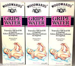 Woodwards-Gripe-Water-150ml-x-3-Bottles-Original-Dill-Seed-oil-for-Baby-bubbles
