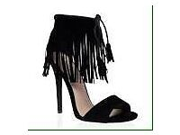 Fringe heels size 5 brand new in box