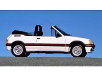 Peugeot 205 CTI 1.6 GTI Pininfarina, white, leather seats, lovely