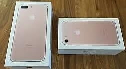iphone 7 plus 256gb roge gold brand new sealed unlocked 1 year apple warrnty and receipt
