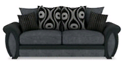 3 seater and 2 seater sofa charcoal brand new