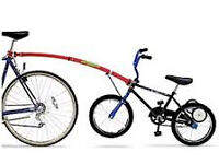 Second hand Trail Gator Bicycle Tow Bar (blue), child bike tow bar for learning to bike ride