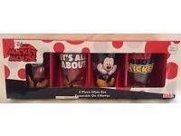 Disney 4 Piece Glass Set