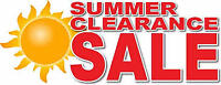 September clearance sale 30% off