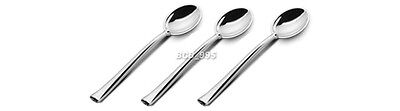 20pcs Appetizer Mini SPOONS Silver Chrome Small PLASTIC Tiny Miniature Cute