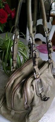 B. MAKOWSKY olive green Large LEATHER Tote handbag Purse