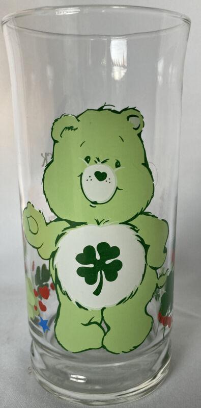 Vintage Pizza Hut Care Bears Glass - Good Luck Bear - 1983 EXCELLENT