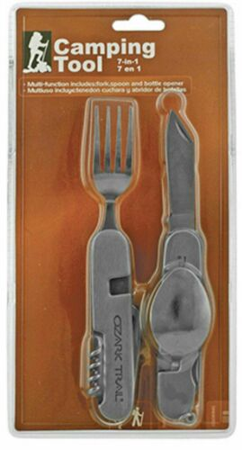 Ozark Trail Multi-Function Camping Survival Knife Tool Fork and Spoon