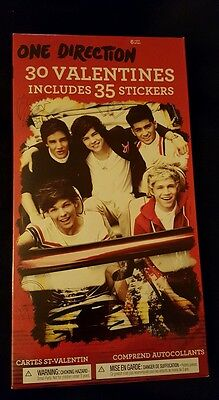 ONE DIRECTION 32 Valentines with 35 Stickers MIB