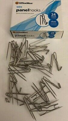 Cubicle Panel Wall Wire Hooks Silver Pins For Fabric Material Rare-ships N 24 Hr