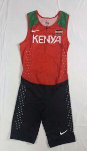 Nike Pro Elite Kenya 2016 Olympic Speedsuit Size Medium Track and Field Men New