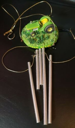 JOHN DEERE TRACTOR WIND CHIME Limited Edition Heaven Sent poly resin farm home