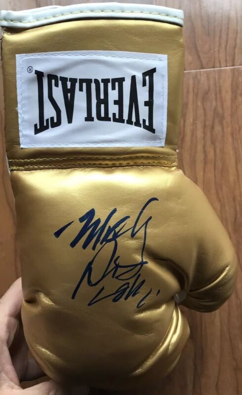 Mickey Rourke Signed Everlast Boxing Glove with Exact proof Loki