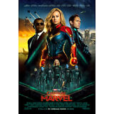 CAPTAIN MARVEL MOVIE POSTER 2 Sided ORIGINAL INTL FINAL Ver B 27x40 BRIE LARSON