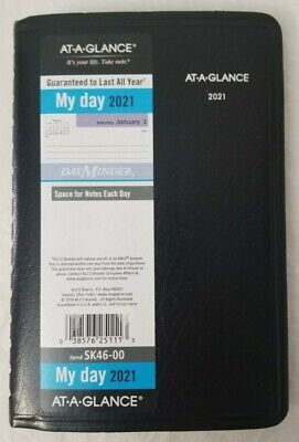 New At-a-glance 2021 Daily Planner Sk46-00 Dayminder 4.78 X 8 - Free Ship