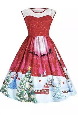 Nwt Womens Size 22 Christmas Holiday Dress Hot Pink Santa - Pink Santa Dress