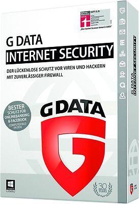 G DATA Internet Security 2018 1 Jahr / 12 Monate für Windows Anti Virus Software