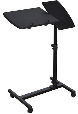 Adjustable Angle & Height Rolling Laptop Desk Table Stand Tray Over Bed Hospital