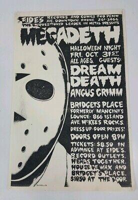 MEGADETH - Halloween 1986 - ORIGINAL CONCERT FLYER POSTER by Bucciarelli - Halloween Concert Flyer