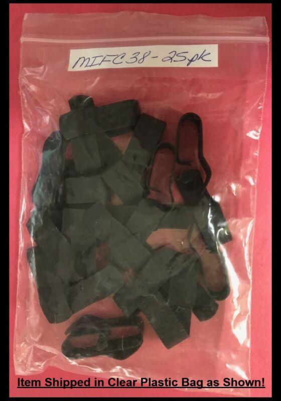 """Mize 25 Pk Heavy Duty 3/8"""" Trailer Wire Frame Clips Black Enamel"""