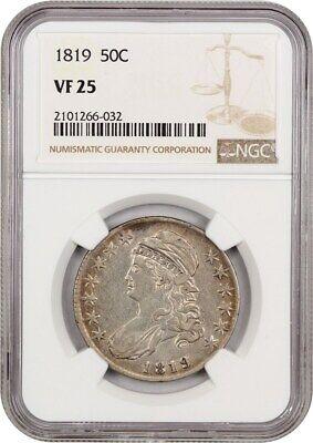 1819 50c NGC VF25 - Bust Half Dollar