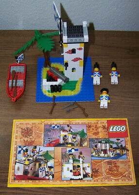 Vintage 1989 Pirates Lego 6265 Saber Island, 100% Complete w/ Instructions