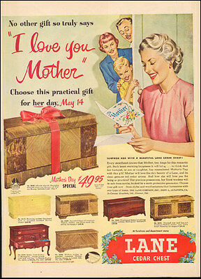 Vintage ad for Lane Cedar Chest`Art May 14 Mother's Day Art ( 032117)