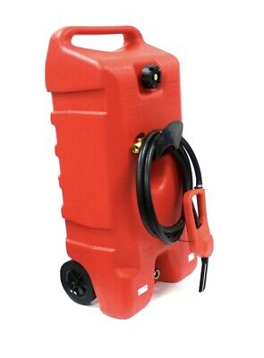 14 Gallon Portable Gas Can Fuel Caddy Transfer Tank Poly Container Wnozzle Pump
