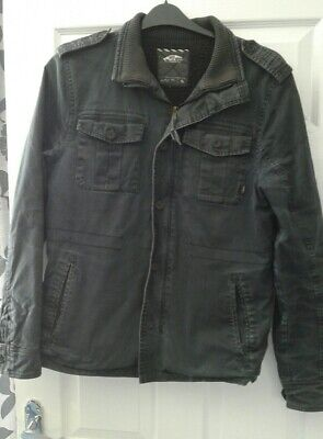 VANS MENS COTTON FADED LOOK BLACK JACKET SIZE S