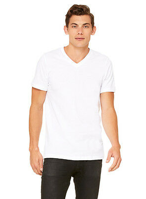 Plain White V-neck - White V-Neck Premium Bella + Canvas Tee 3005 Plain Soft Athletic Fit Unisex S-XL