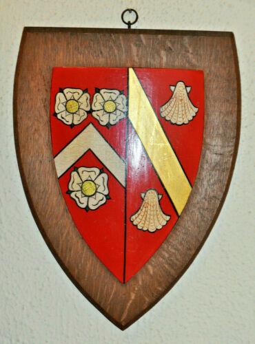 Large vintage Wadham College Oxford university plaque shield crest coat of arms