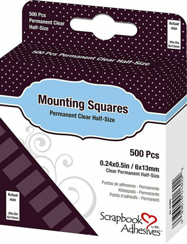 Scrapbook Adhesives by 3L Scrapbook Adhesives Clear Mounting Squares, New!