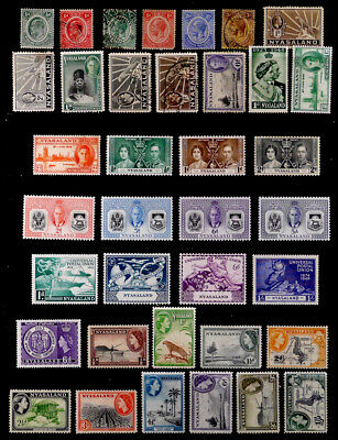 NYASALAND PROT., BRITISH: CLASSIC - 50'S STAMP COLLECTION WITH SETS MANY UNUSED