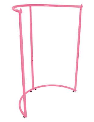 Half Round Clothing Rack Hot Pink Garment 37 X 55 Retail Display Clothes
