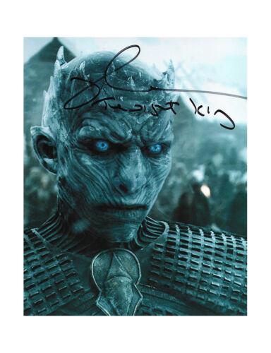 "8x10"" Game Of Thrones Night King Print Signed by Richard Brake 100% + COA"