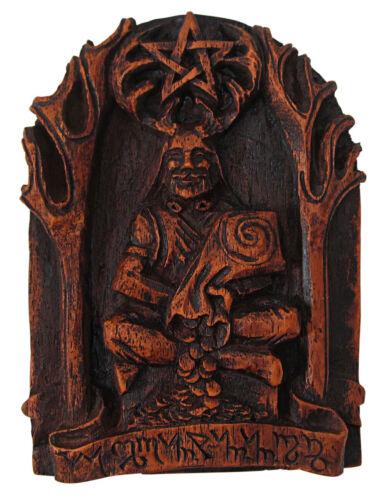 Cernunnos Plaque - Wiccan Celtic Horned God Prosperity Statue - Dryad Design