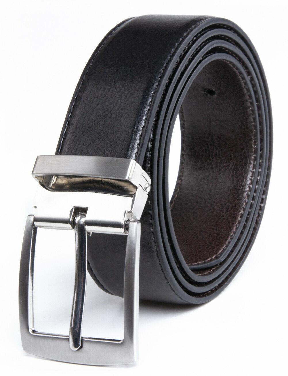 Men's Reversible Belts Leather Dress Belt for Men ,1.33INCH Width Belts