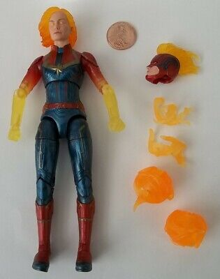 "Loose Marvel Legends Walmart-Exclusive 6"" Binary Form Magma Captain Marvel"
