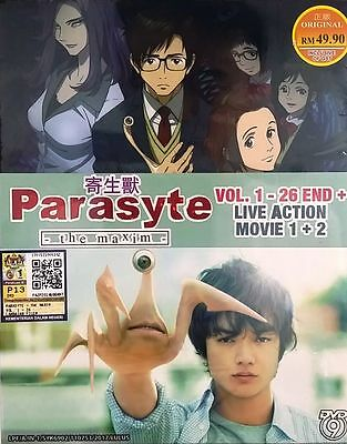 Anime DVD Parasyte - The Maxim Vol.1-26 + Live Action Movie 1+2 Free Shipping - 2017 Animated Movies